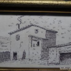 Arte: DIBUJO FIRMADO TON.MASIA DE TERRASSA O ALREDEDORES.. Lote 224800208