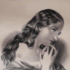 Art: ANTIGUO DIBUJO A LAPIZ, FIRMADO NIEVES GARCIA RUBIO.. Lote 224914807