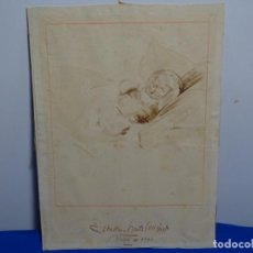 Arte: DIBUJO ILEGIBLE DEL 1746.NIÑO.BUEN TRAZO.. Lote 199419125