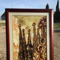 Arte: ANTIGUO CUADRO ABSTRACTO DEL SAGRADA FAMILIA DE BARCELONA POR EL AUTOR SERGÈ AÑO 1996. Lote 225213096