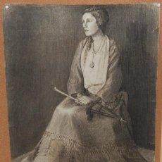 Arte: RETRATO DE JOVEN MUJER CON SOMBRILLA POR STANLEY GREENE (1903-1965). Lote 225354110
