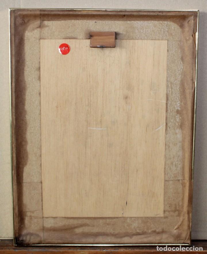 Arte: ENRIQUETA POCH BARBER (Girona, 1943) DIBUJO A TINTA DEL AÑO 1990. JOVEN DE PERFIL - Foto 6 - 225802515