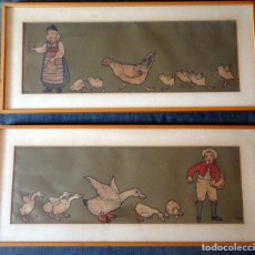 Arte: LOTE DE 2 ILUSTRACIONES FIRMADAS ORENS , VER FOTOS. Lote 226051510