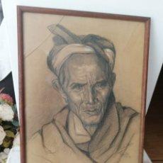 Arte: DIBUJO DEL 1919.. NO PUEDO RECONOCER FIRMA.. OBRA IMPRESIONANTE MARCANDO LOS RASGOS FÍSICOS... Lote 226101145