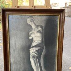Arte: DIBUJO ENMARCADO Y FIRMADO POR E. ESTEVE REIG 1911 50X69CM. Lote 226438440