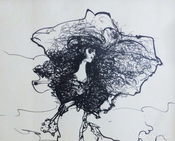 Arte: MODEST CUIXART: EN BUSCA DE PAZ. DIBUJO TINTA, 1982. PRECIOSO. - Foto 3 - 226688789