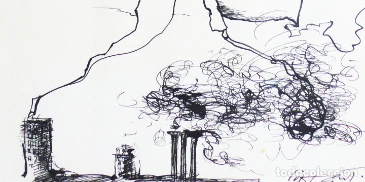 Arte: MODEST CUIXART: EN BUSCA DE PAZ. DIBUJO TINTA, 1982. PRECIOSO. - Foto 4 - 226688789