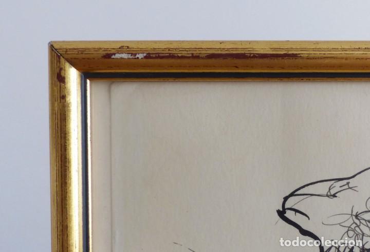 Arte: MODEST CUIXART: EN BUSCA DE PAZ. DIBUJO TINTA, 1982. PRECIOSO. - Foto 6 - 226688789
