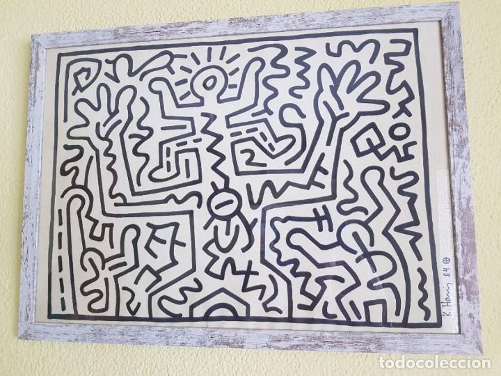 KEITH HARING DRAWING ON PAPER (Arte - Dibujos - Contemporáneos siglo XX)