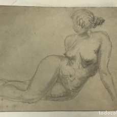 Arte: DIBUJO A LÁPIZ DESNUDO FEMENINO 1920'S. ANÓNIMO.. Lote 227813205