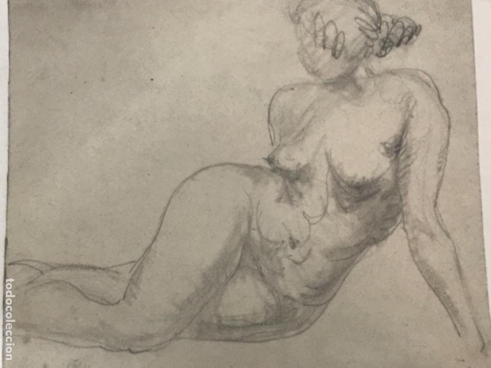 Arte: DIBUJO A LÁPIZ DESNUDO FEMENINO 1920'S. ANÓNIMO. - Foto 3 - 227813205