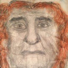 Arte: DIBUJO CON ROSTRO MASCULINO DE JOSEP MARÍA GOL I CREUS (BCN 1897-1980). Lote 227857980