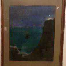 Arte: MARINA NOCTURNA POR RICARD URGELL (1874-1924). Lote 228037235