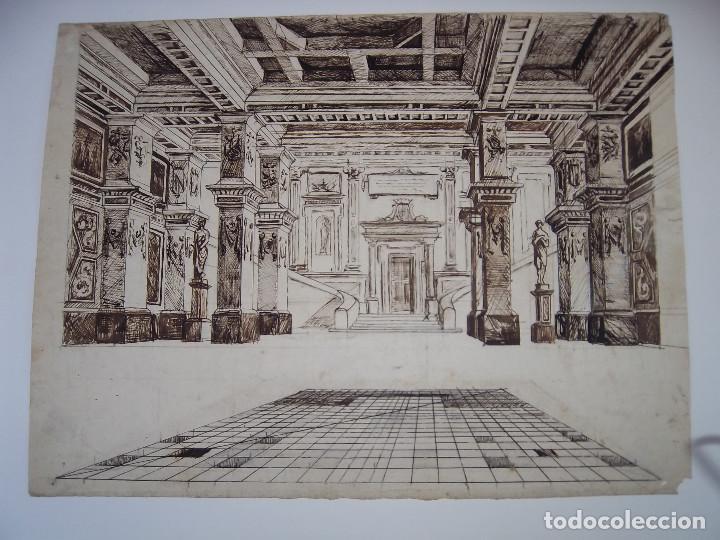 DIBUJO A LA PLUMA (Arte - Dibujos - Modernos siglo XIX)