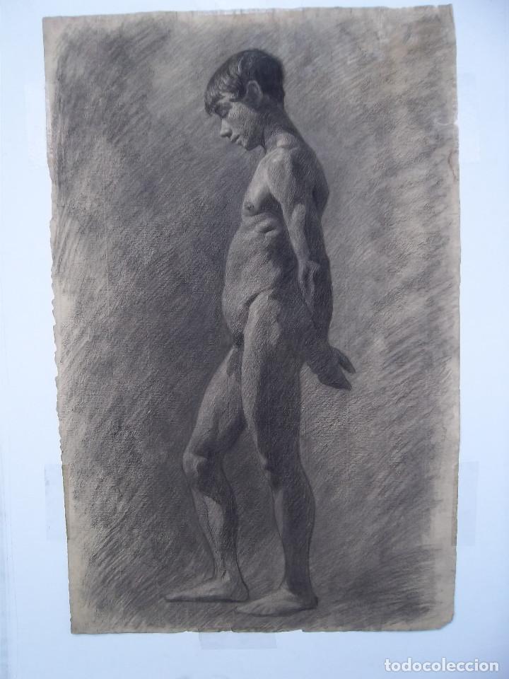 FANTASTICO DESNUDO DE ADOLESCENTE ( DIBUJO) (Arte - Dibujos - Modernos siglo XIX)