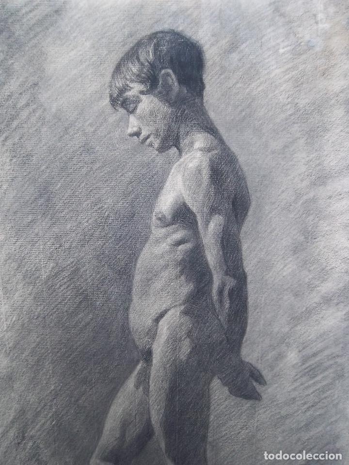 Arte: FANTASTICO DESNUDO DE ADOLESCENTE ( Dibujo) - Foto 2 - 228580676