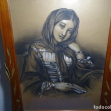 Arte: DIBUJO EN MARCO MODERNISTA FIRMADO A. PALET.PRINCIPIO S. XX.. Lote 228655735