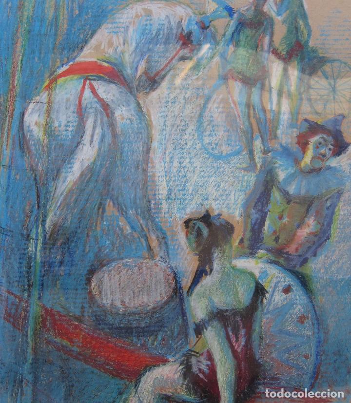 Arte: ALFREDO OPISSO. ESCENA DE CIRCO. CERAS. 63 x 48,5 cm. FIRMADO - Foto 3 - 229535195