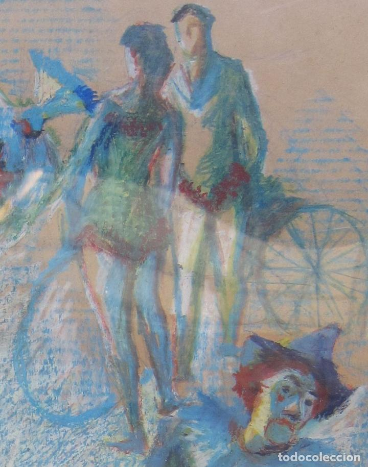 Arte: ALFREDO OPISSO. ESCENA DE CIRCO. CERAS. 63 x 48,5 cm. FIRMADO - Foto 4 - 229535195