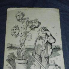 Arte: (M) DIBUJO ORIGINAL POLITICO - SUFRAGIOS ANALFABÉTICOS - LA ESQUELLA DE LA TORRATXA?. Lote 229575460