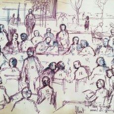 Arte: JOSÉ LUIS FLORIT RODERO (MADRID, 1909 – PARÍS, 2000). DIBUJO FIRMADO,FECHADO Y DEDICADO. Lote 229899400