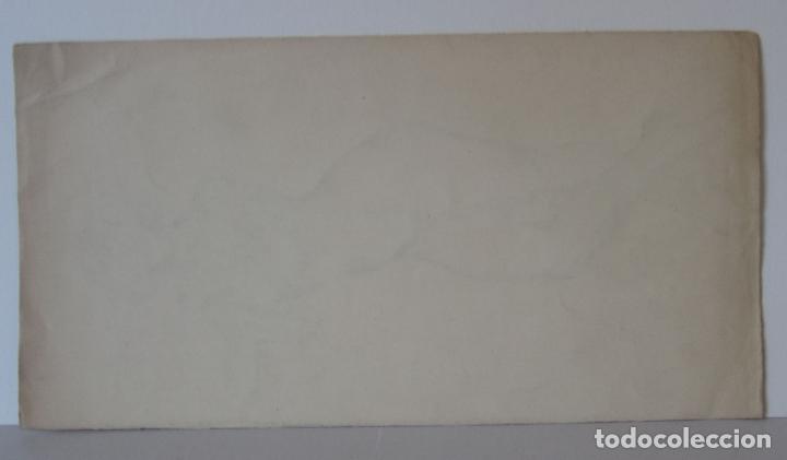 Arte: PERE YNGLADA. DESNUDO FEMENINO. CARBONCILLO. 35,5 x 18,5 cm, SELLO TESTAMENTARIA - Foto 3 - 230053785