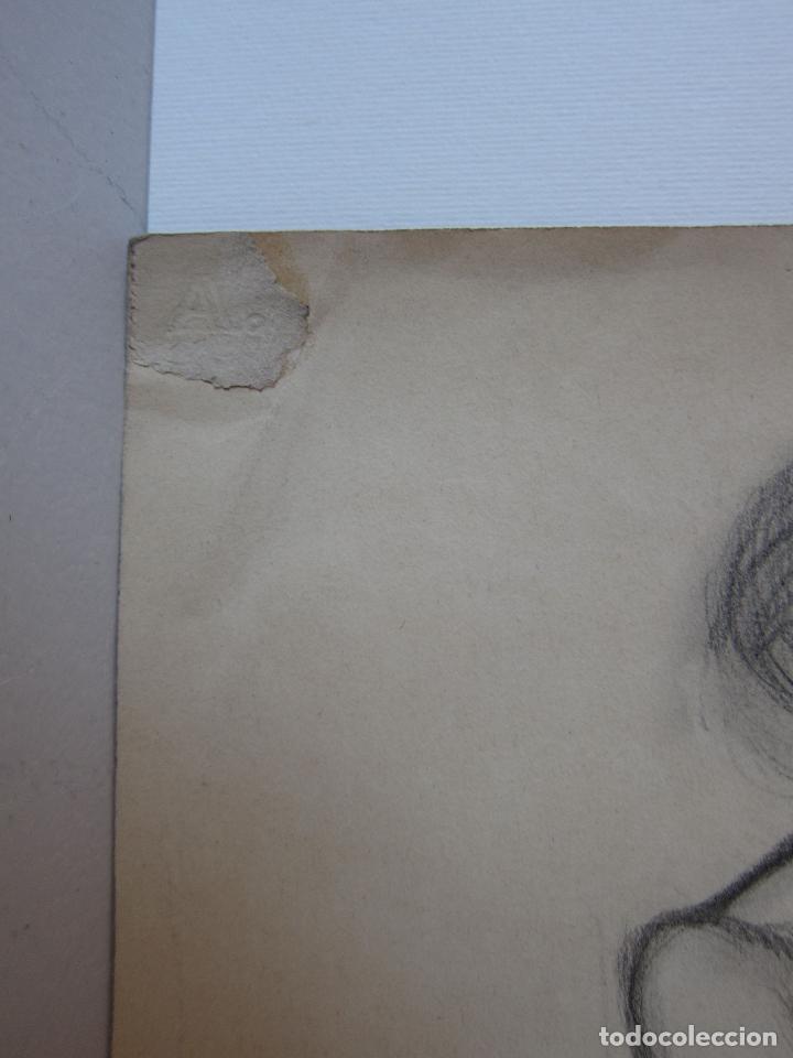 Arte: PERE YNGLADA. DESNUDO FEMENINO. CARBONCILLO. 35,5 x 18,5 cm, SELLO TESTAMENTARIA - Foto 4 - 230053785