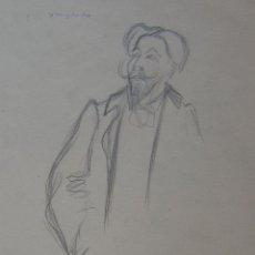 Arte: PERE YNGLADA. RETRATO ARTISTA. DIBUJO LAPIZ. IMAGEN 18 X 14 CM; PAPEL 32 X 25.SELLO TESTAMENTARIA. Lote 230121235