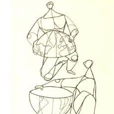 Arte: CIRO ODUBER (PANAMÁ 1921- ESPAÑA 2002). MEDIDAS 42X16,5 CMS.1970. Lote 230257735