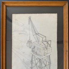 Arte: DIBUJO ORIGINAL A TINTA FIRMA CRAM, ( MARC ALEU SOCIES ), EDITADO REVISTA DAU AL SET. 1954.. Lote 229176695