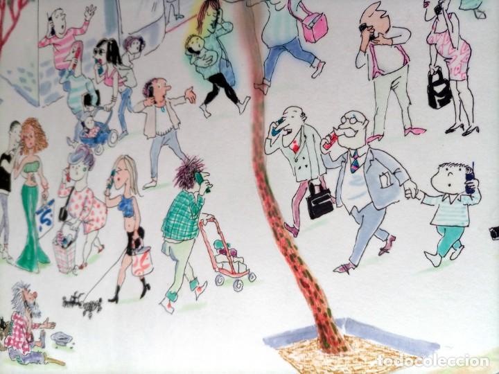 Arte: JOAQUIM MUNTAÑOLA - DIBUJO - COLOR - TEMÁTICA MÓVILES - DEDICADO - 46x33cm - Foto 5 - 230508880