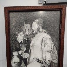 Arte: GUIJARRO. LOS NIÑOS BEBIENDO. FIRMADO Y FECHADO. ENMARCADO 78X58CM. Lote 230595420