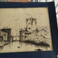 Arte: PRECIOSO DIBUJO A PLUMILLA PINTOR, L.J.ROLDAN.. Lote 230661860