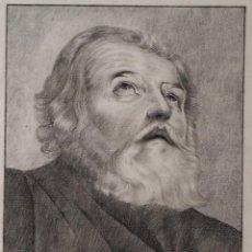 Arte: SAN PEDRO, DIBUJO AL CARBÓN DE 1875. Lote 231033670