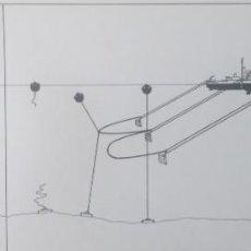 Arte: BUQUE DRAGAMINAS, TINTA, 1974,44X17, GARCÍA GÁRATE. Lote 231214990
