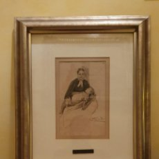 Arte: JOAQUIM VAYREDA (1843-1894) - MARE I FILL - DIBUJO - 23 X 16 CM.. Lote 231259190