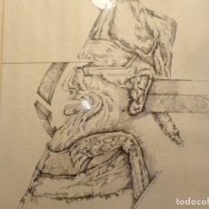 Arte: DIBUJO TINTA DE JOAN PIJOAN MUXART 1954- 2000 MARCO ESTILO HOLANDES TODO PERFECTO. Lote 262004340