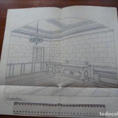 Arte: DIBUJO ARQUITECTURA, CRIPTA. Lote 231492770