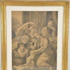 Arte: ESCUELA DEL RENACIMIENTO ITALIANO - LA SAGRADA FAMILIA. Lote 231566090