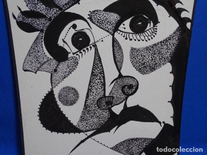 Arte: DIBUJO A TINTA DEL POLIFACÉTICO POETA CERAMISTA Y DIBUJANTE LLUÍS FERRER I BADENAS FALLECIDO EN 2010 - Foto 2 - 231718800