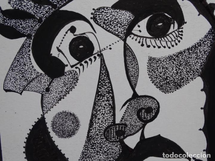 Arte: DIBUJO A TINTA DEL POLIFACÉTICO POETA CERAMISTA Y DIBUJANTE LLUÍS FERRER I BADENAS FALLECIDO EN 2010 - Foto 4 - 231718800