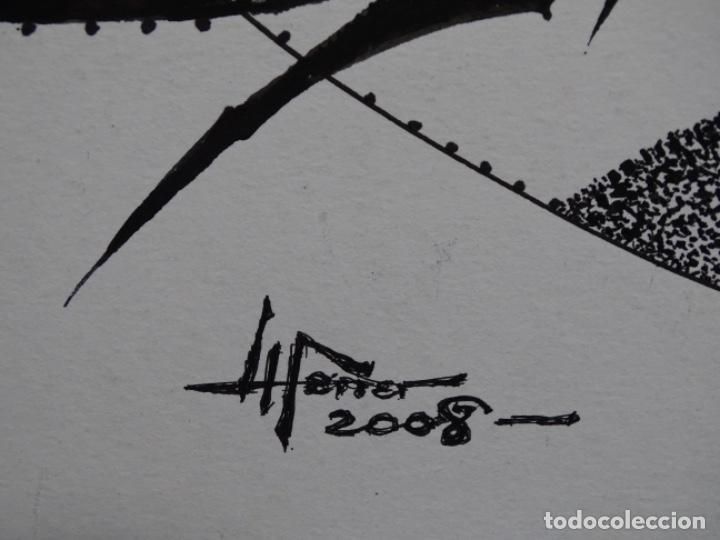 Arte: DIBUJO A TINTA DEL POLIFACÉTICO POETA CERAMISTA Y DIBUJANTE LLUÍS FERRER I BADENAS FALLECIDO EN 2010 - Foto 8 - 231718800