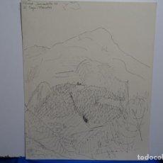 Arte: DIBUJO DE RABAT JUNCADELLA.1962.EL TAGA, PLANOLAS.. Lote 231923935