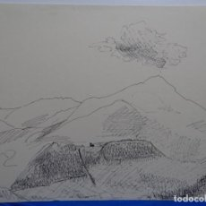 Arte: DIBUJO DE RABAT JUNCADELLA.1962.EL CATLLAR, RIPOLL.. Lote 231924195