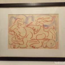 Arte: DIBUJO ENMARCADO FIRMADO MUNNE PERE MUNNE. Lote 232575335