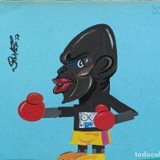 Arte: BOXEO. DIBUJO ORIGINAL DE BENNY BRISCOE, DE FERNANDO VINYES. ADMITE OFERTAS.. Lote 232604375