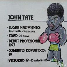 Arte: BOXEO. DIBUJO ORIGINAL DE JOHN TATE, DE FERNANDO VINYES. ADMITE OFERTAS.. Lote 232607456