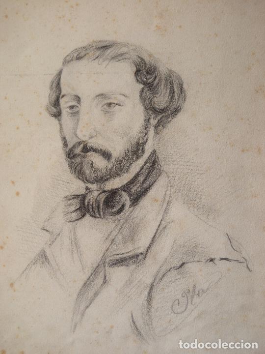 CARBON Y LAPIZ- FIRMADO PLA (Arte - Dibujos - Modernos siglo XIX)
