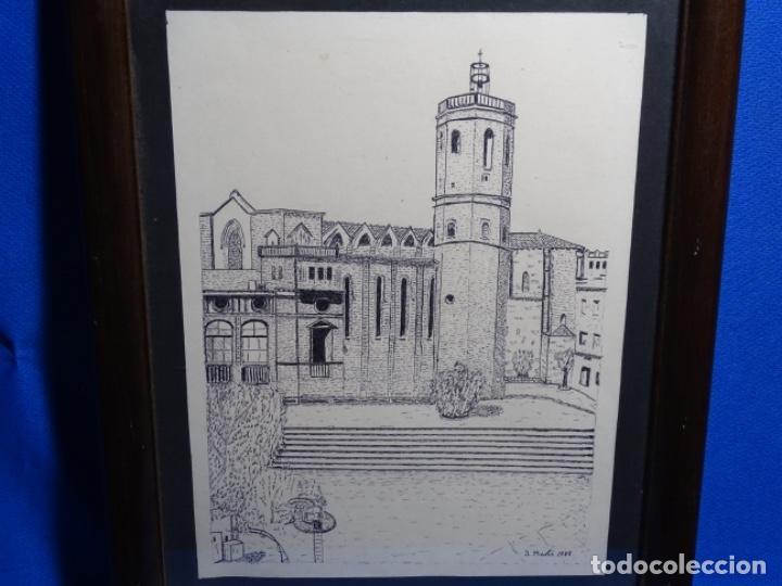 DIBUJO FIRMADO J. MARTI 1988. (Arte - Dibujos - Contemporáneos siglo XX)
