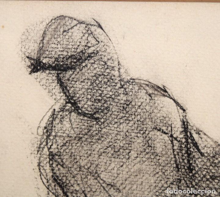 Arte: BLANCA VERNIS DOMENECH (Barcelona, 1961) DIBUJO A CARBON FIRMADO Y FECHADO DEL AÑO 1987. PERSONAJE - Foto 3 - 234102430